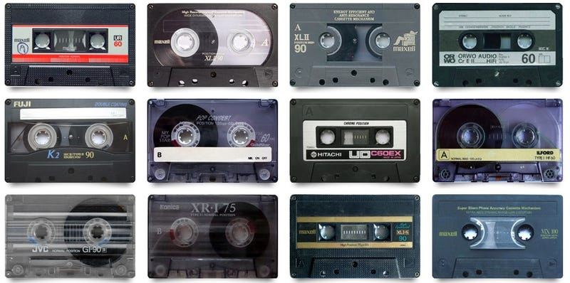 Illustration for article titled How Many of These Old Cassette Tape Designs Do You Remember?