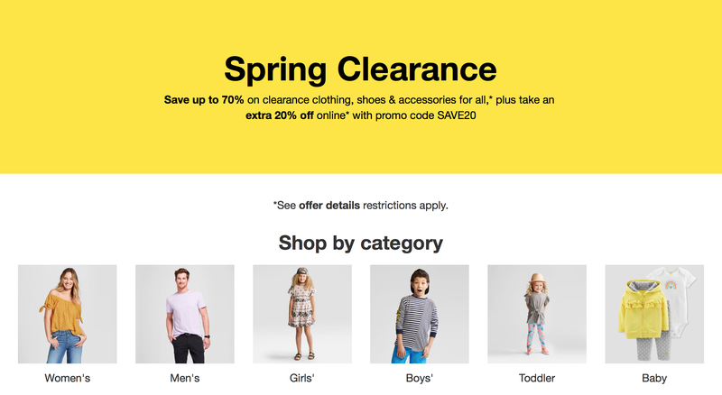 c62e63c3021 Save An Extra 20% On All of Target s Clearance Clothes