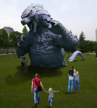 Illustration for article titled Godzilla Invades a Tokyo Park