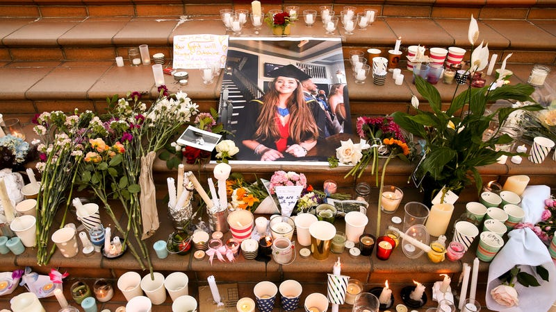 A vigil for Grace Millane, a British backpacker that went missing in early December in New Zealand.