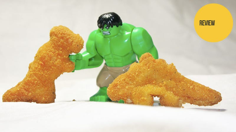 Illustration for article titled Dinosaur-Shaped Chicken Nuggets: The Snacktaku Review