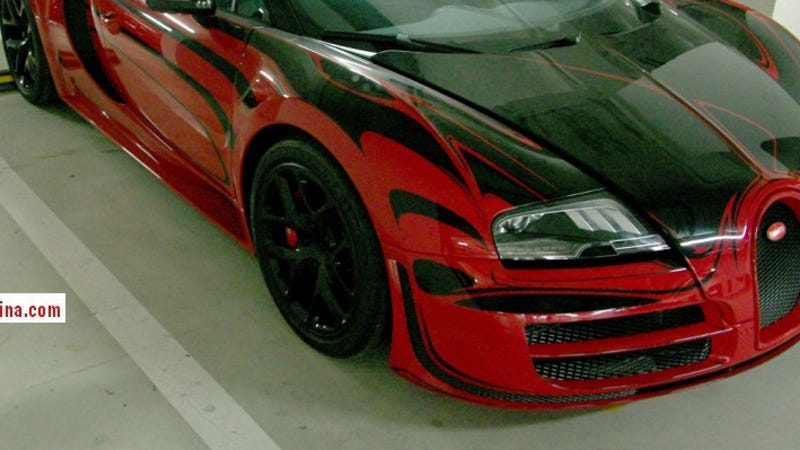 why is this mystery bugatti veyron gathering dust in a chinese garage. Black Bedroom Furniture Sets. Home Design Ideas