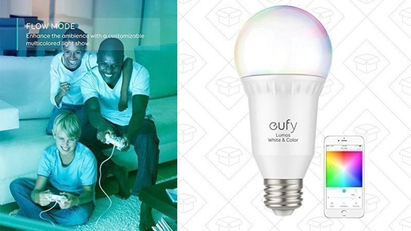 Luz inteligente Eufy RGB | $26 | Amazon | Usa el código NDBR4PZZLuz inteligente Eufy Blanca | $14 | Amazon | Usa el código HXBRFZNNGráfico: Shep McAllister