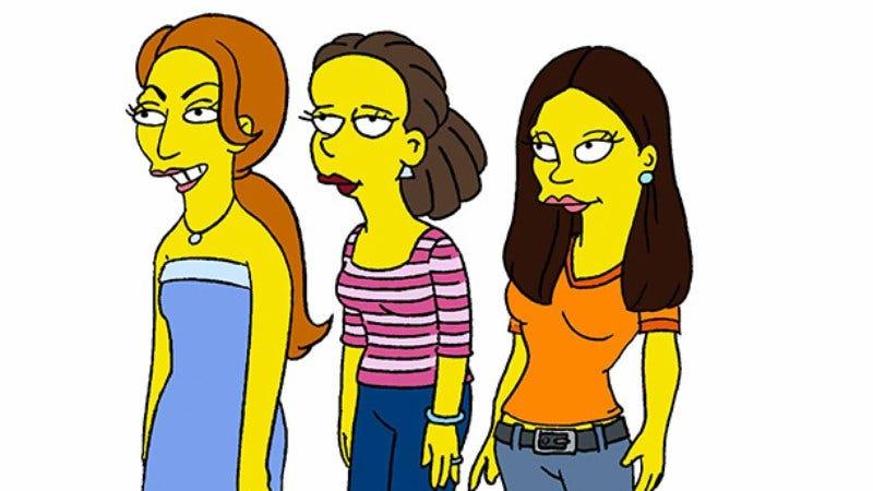 Allison Williams, Zosia Mamet, and Jemima Kirke, Simpsonized