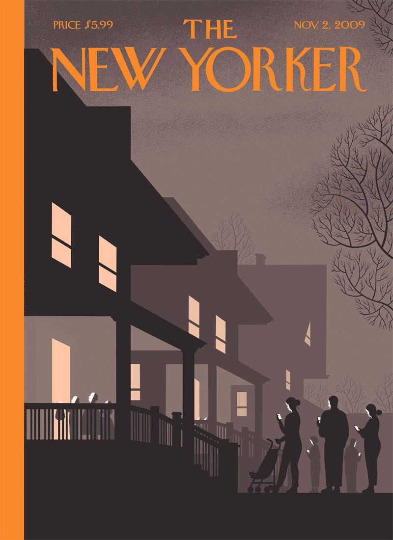Illustration for article titled Chris Ware's New Yorker Cover Is Wonderful