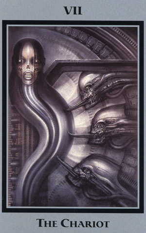 Illustration for article titled H.R. Giger Tarot cards always predict an unsettling future