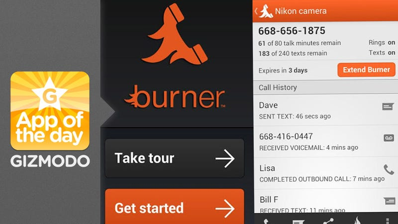 Illustration for article titled Burner: The Single-Serving Phone Number App Is Now for Android