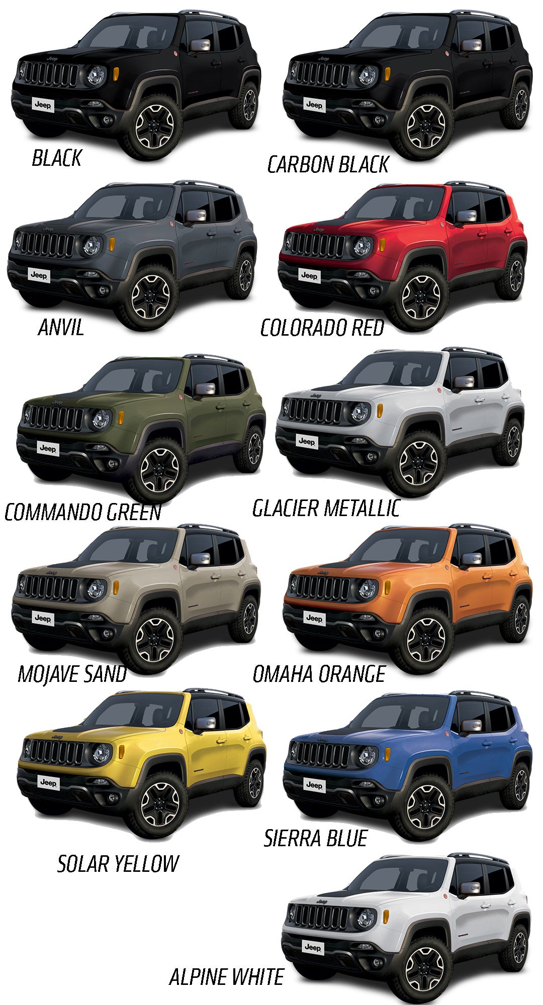 Préférence 2015 Jeep Renegade Will Come In A Big Selection Of Great Colors OA61