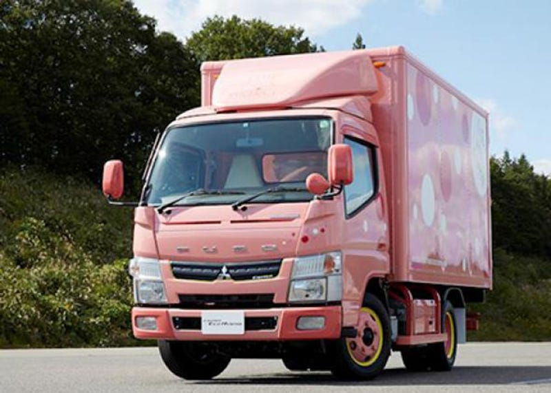 Illustration for article titled Great News, Lady Truckers: You Can Now Get Your Big Rig in Pink!