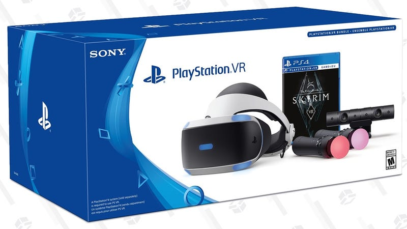PlayStation VR Skyrim Bundle | $240 | DellPlayStation VR Doom Bundle | $200 | Walmart
