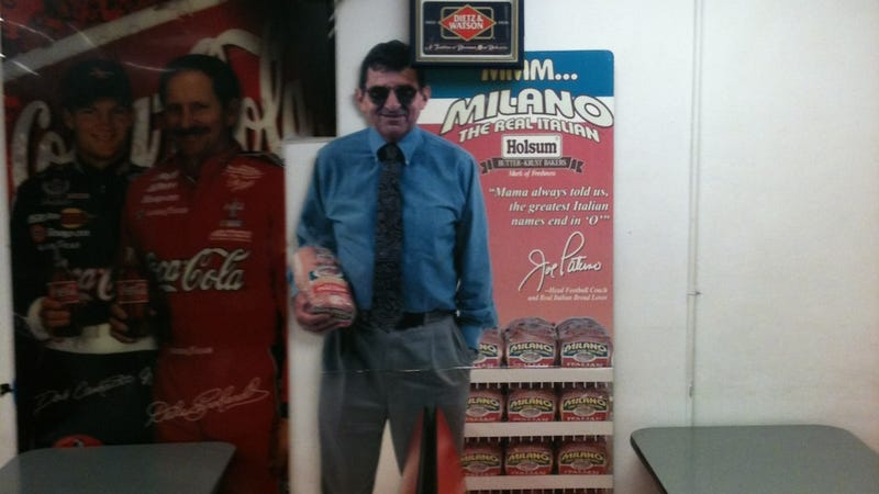 Illustration for article titled A Cardboard Cutout Of Joe Paterno Is Still Selling You Bread At A Grocery Store In Pennsylvania
