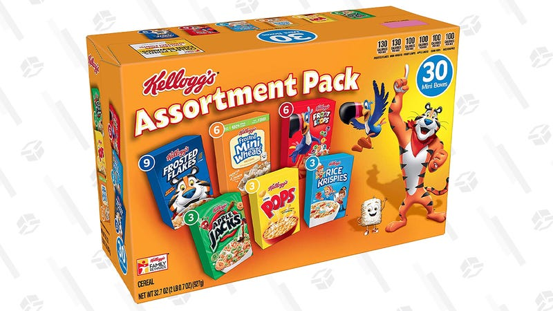 30 Assorted Miniature Boxes of Kellogg's  Cereal | $6 | Amazon