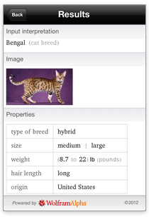 Illustration for article titled Wolfram Cat Breeds Reference App