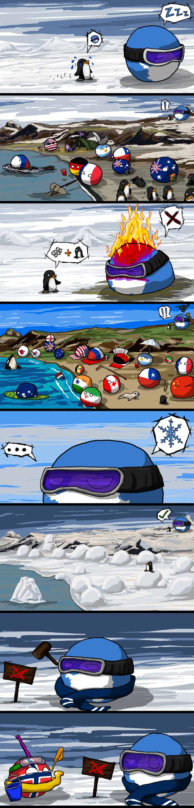 Illustration for article titled Daily Polandball: Unwelcome Visitors.