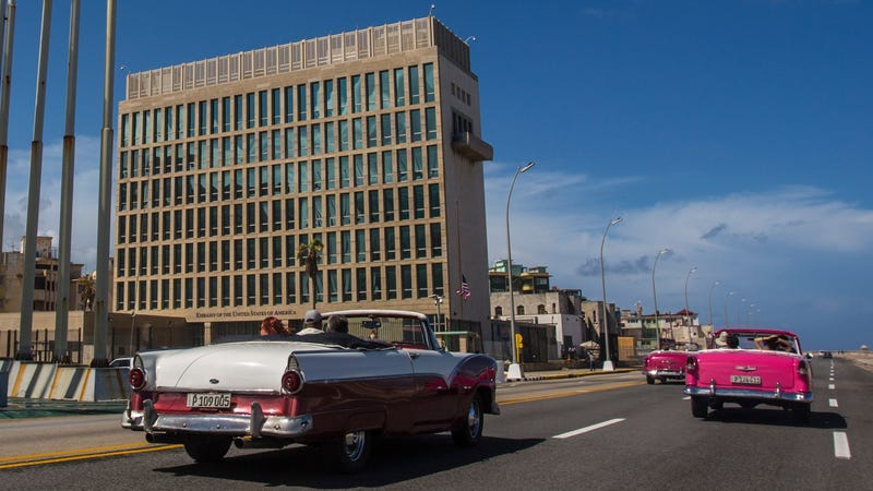 The US embassy in Cuba.