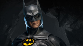 Illustration for article titled This Michael Keaton Batman Statue Can Do The Impossible: Turn His Head