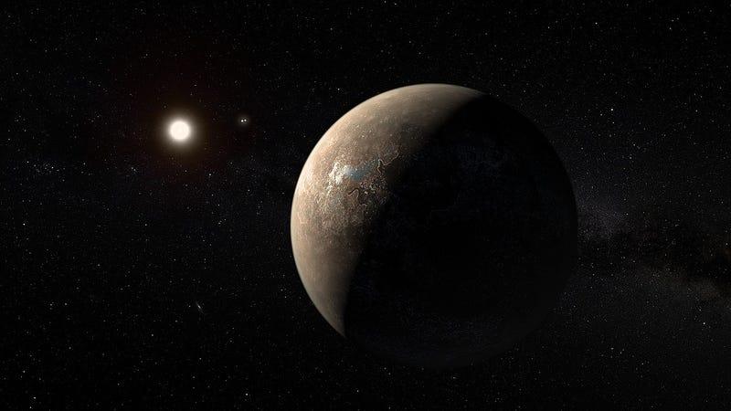 Illustration for article titled Próxima b, el exoplaneta más cercano a la Tierra podría ser habitable incluso pese a las llamaradas solares