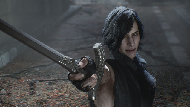 Devil May Cry 5's new playable character is the corniest dude in a series full of corny dudes