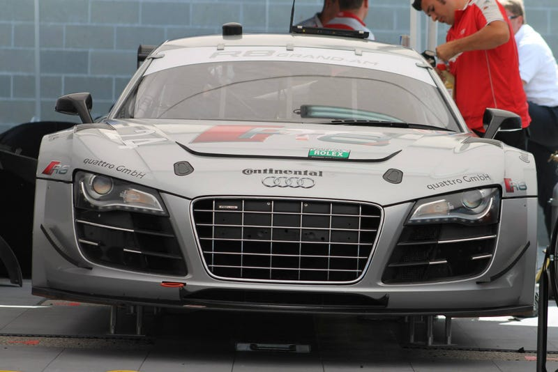 Illustration for article titled Audi R8 Grand-AM? Audi R8 Grand-AM.