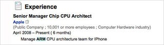Illustration for article titled Apple Employee Posts Job Description On LinkedIn, Divulges Future iPhone CPU Plans