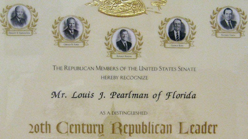 Illustration for article titled Lou Pearlman 20th Century Republican Leader Certificate