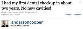 Illustration for article titled Anderson Cooper Went To The Dentist For The First Time In Two Years
