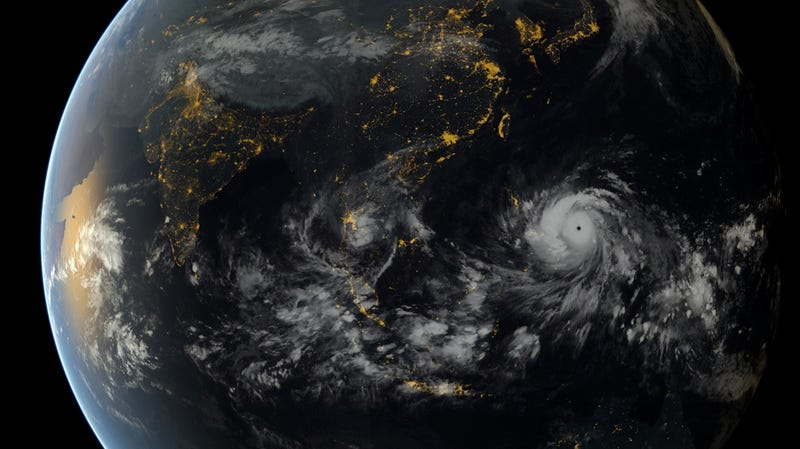 Illustration for article titled Typhoon Haiyan Even Looks Terrifying From 22,000 Miles Away