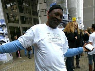 """""""Clarence"""" works as a """"Homeless Hotspot."""" (Entrepreneur.com)"""