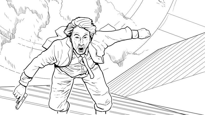Exclusive: See a page from Doogie Horner\'s Die Hard coloring book