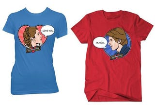 Illustration for article titled Geek Love: His and Hers Star Wars T-Shirts