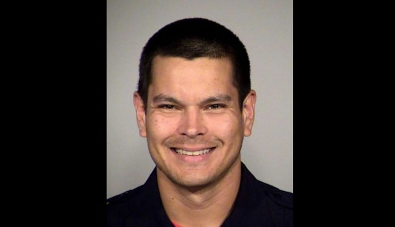 Officer Matthew Luckhurst, accused of feeding a dog-feces sandwich to a homeless individual in San Antonio