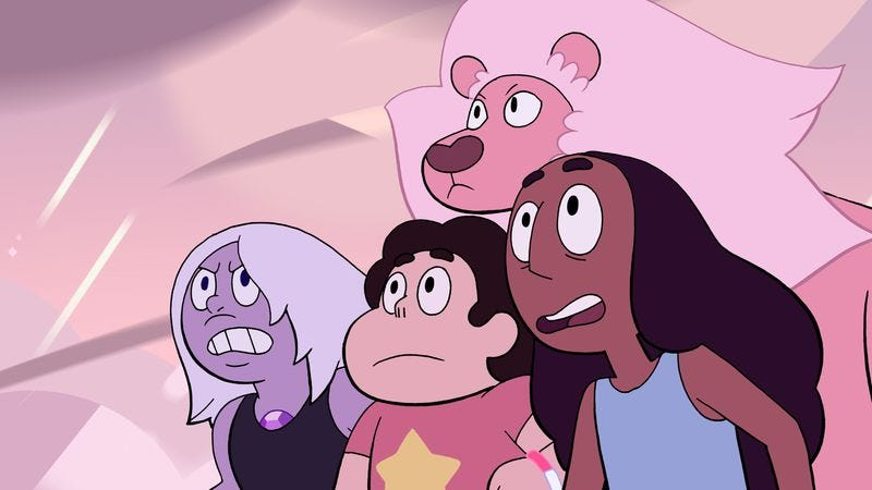 Illustration for article titled Steven Universe's day of fun with Connie and Amethyst goes horribly wrong