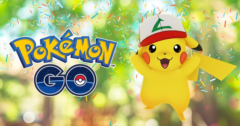 Illustration for article titled Pokémon Go's Anniversary Event Will Let You Capture Ash's Pikachu