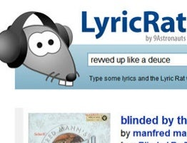 Illustration for article titled LyricRat Names that Tune with Whatever Lyrics You Can Remember