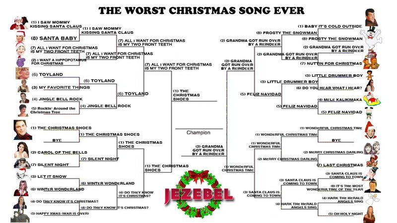 Illustration for article titled And Then There Were Two: The Worst Christmas Song Championship