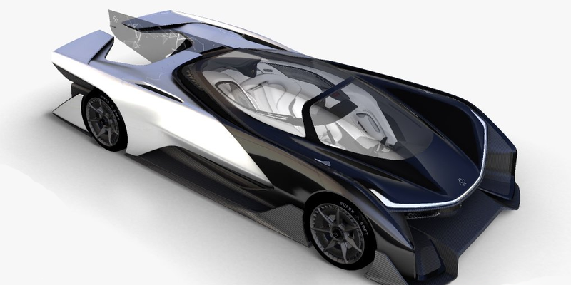 Illustration for article titled This Goofy Thing Apparently Really Is The Faraday Future Car, And It Doesn't Drive