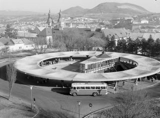 Illustration for article titled The UFO Bus Terminal of Hungary
