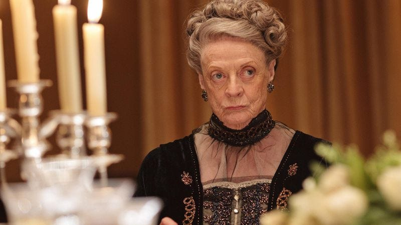 Illustration for article titled Maggie Smith is so done with Downton Abbey