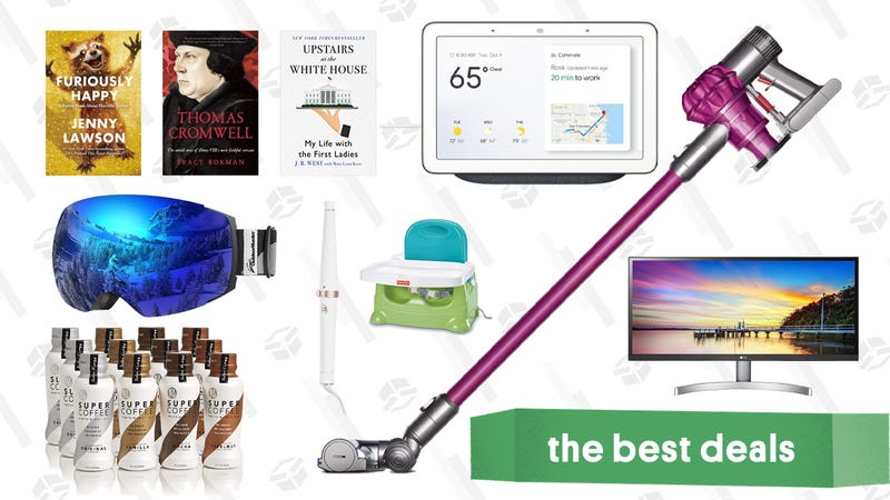 Illustration for article titled Sunday's Best Deals: Dyson V6 Ultimate, Google Home Hub, LG Ultrawide Monitors, And More