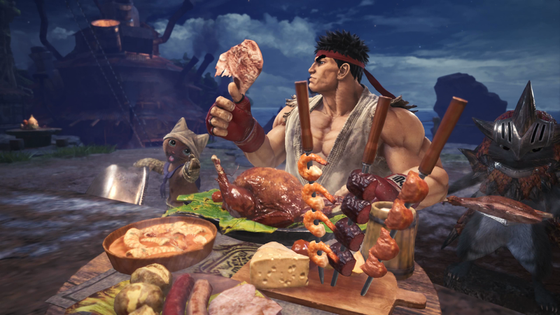 Illustration for article titled Monster Hunter: World's Ryu Costume Is The Right Kind Of Absurd