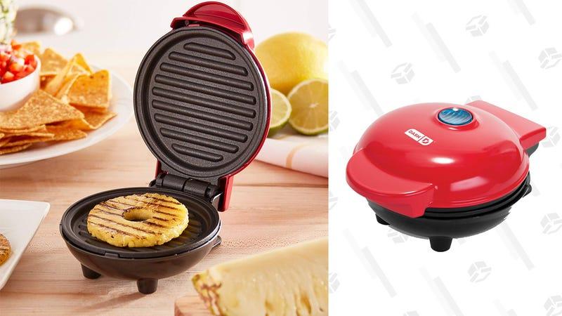 Dash Mini Maker Portable Grill and Panini Press (Red only) | $8 | Amazon