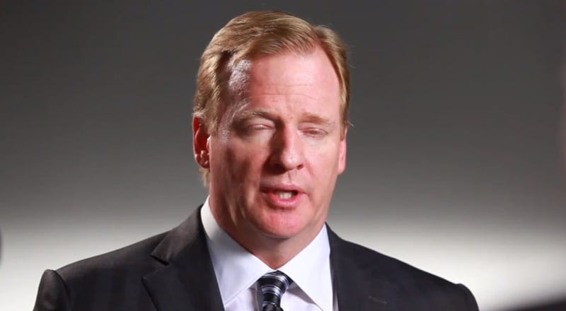 Illustration for article titled Roger Goodell Enforces The Laws That Roger Goodell Came Up With Just Now