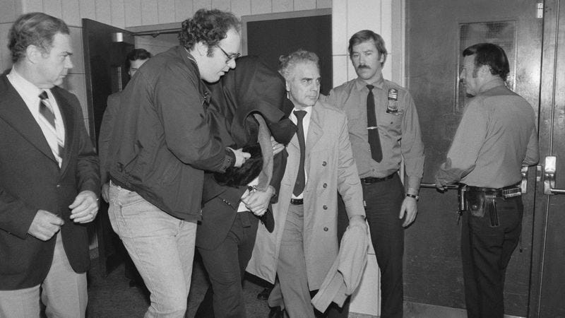 Chapman in police custody the day after the murder. (Photo: Bettmann / Getty Images)