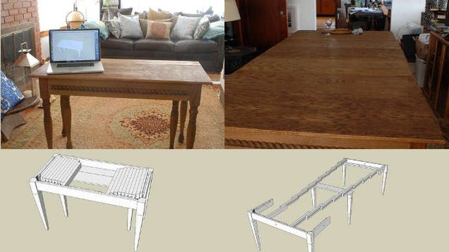 build an expandable dining table that can seat ten and fit