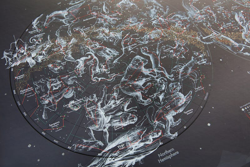 This Spellbinding Star Map Will Make Your Inner Space Geek Drool
