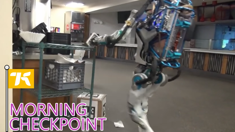 This Robot Is Really Angry And Done Lifting Boxes