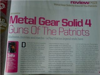 Illustration for article titled First Official Metal Gear Solid 4 Review