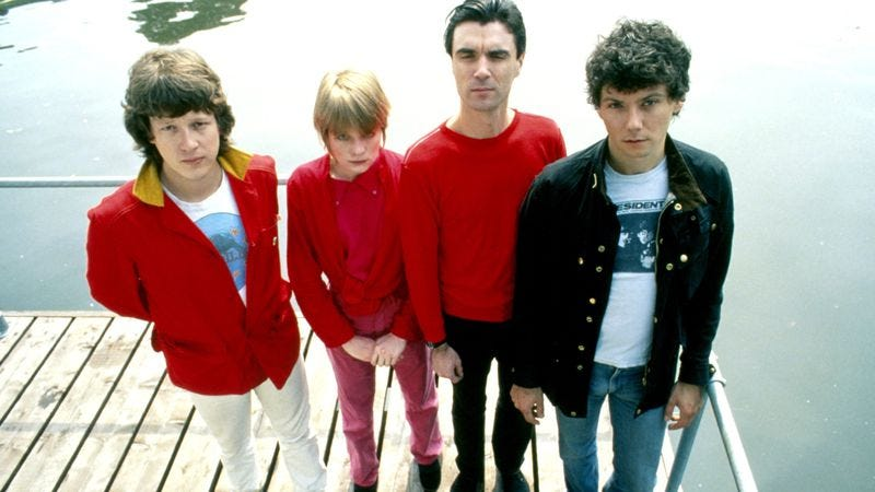 Talking Heads in 1977, or four people you won't see on stage together any time soon (Photo: Getty Images)