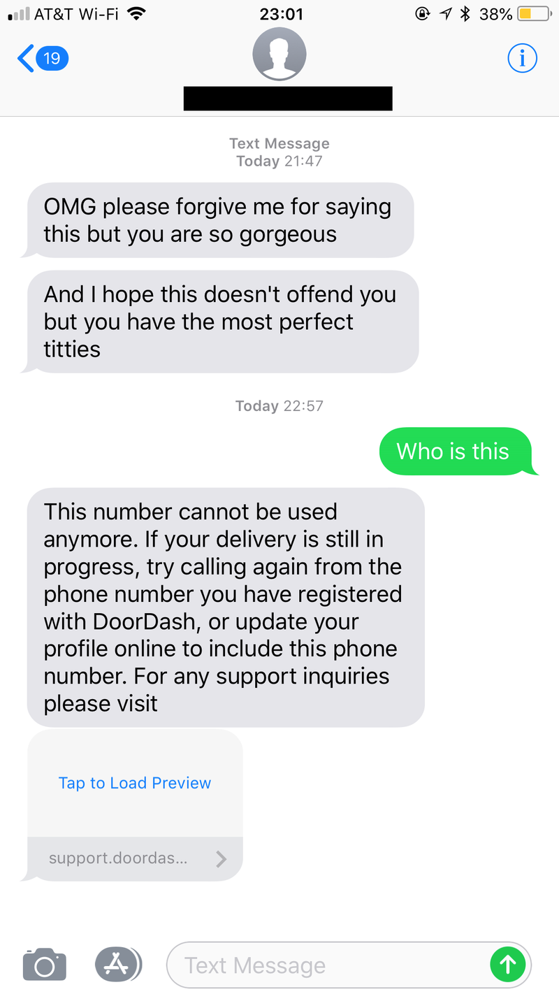 Woman Receives Gross Texts From DoorDash Driver