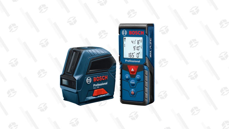 Bosch Blaze Pro Laser Distance Measure | $50 | AmazonBosch Self-Leveling Cross-Line Laser GLL 55 | $100 | Amazon